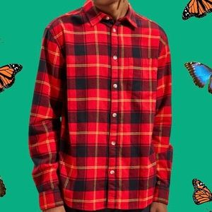 Brand New Plaid Red Flannel- Button Down Shirt